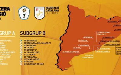 La UE Valls competirà al subgrup A del grup V de 3a Divisió