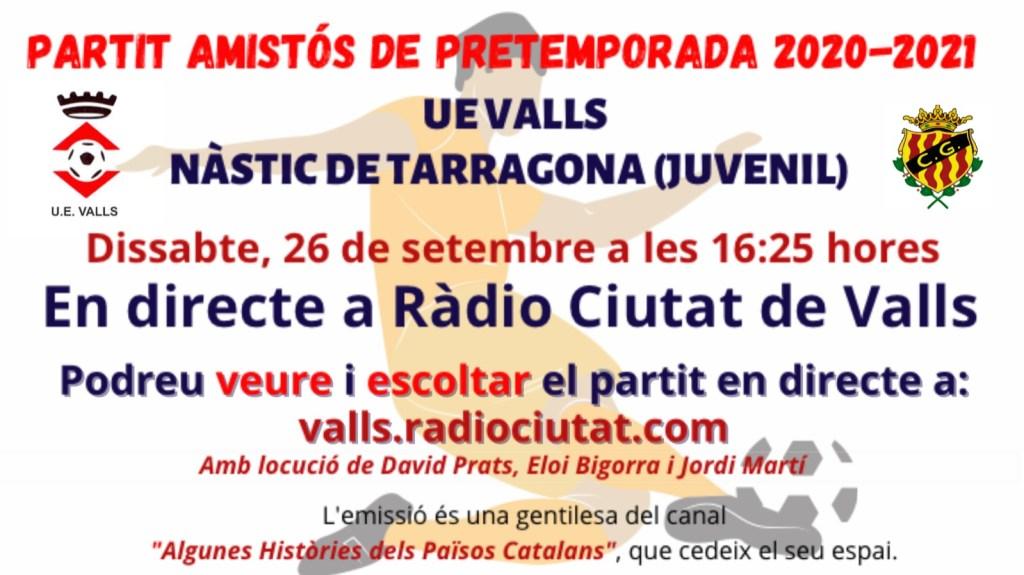 Ràdio i streaming de vídeo per seguir el partit contra el Juvenil del Nàstic