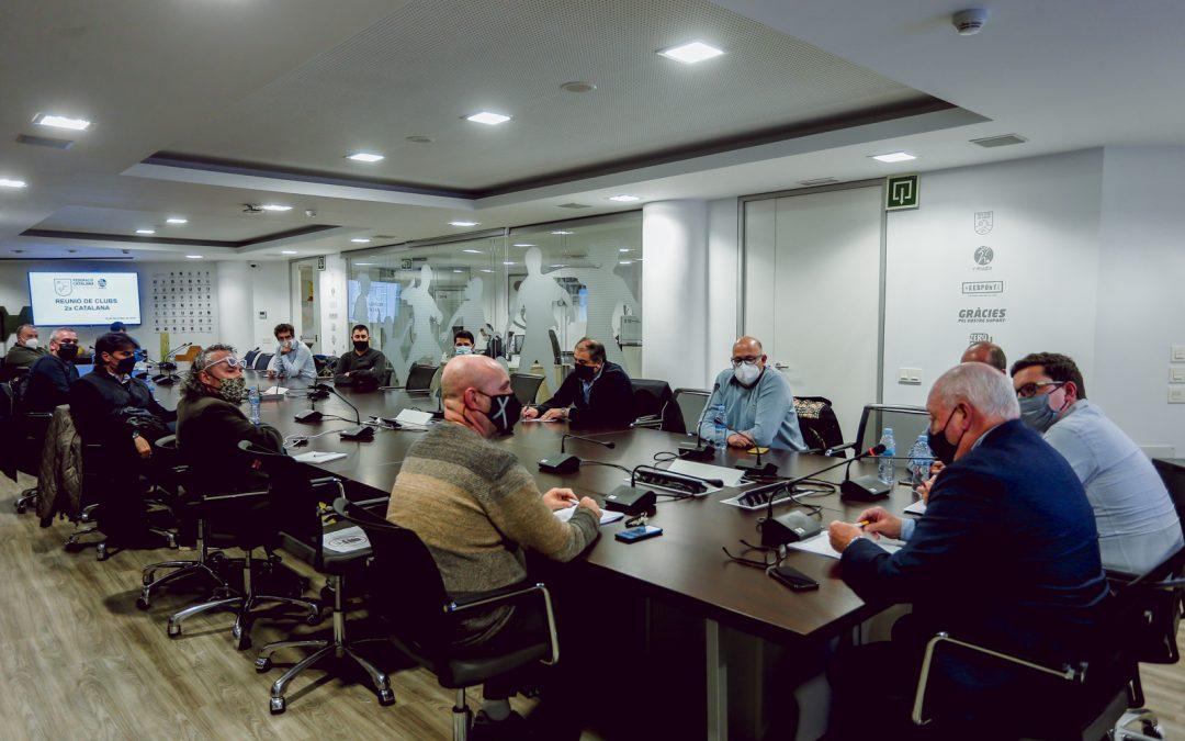 Reunió de la FCF amb la Primera i Segona Catalana